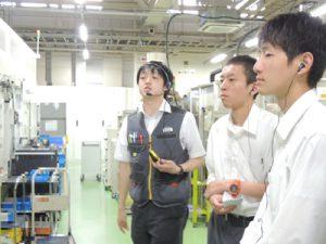 工場見学の様子(オリエンタルモーター(株))